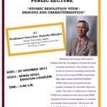 Public Lecture : Atomic Resolution STEM: Imaging and Characterization