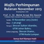 Majlis Perhimpunan Bulanan November 2013