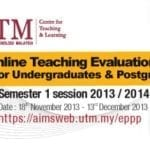 Online Teaching Evaluation (e-PPP)