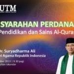 Syarahan Perdana : Pendidikan dan Sains Al-Quran
