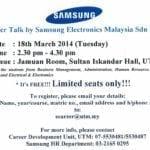 Career Talk by Samsung Elektronics Malaysia Sdn. Bhd.