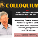 Colloquium with John Curtin Distinguished Professor Kok Lay Teo