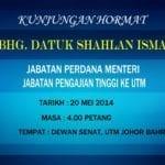 Kunjungan Hormat Ybhg. Datuk Shahlan Ismail