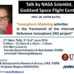 Ionospheric Modeling activities in the framework of the International Reference Ionosphere (IRI) project