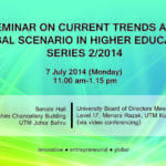 Seminar on Current Trends and Global Scenario in HE Series 2/2014
