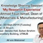 Knowledge Sharing Session 'My Research Experience'