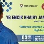 Talk by YB Encik Khairy Jamaluddin