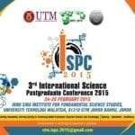 3rd International Science Postgraduate Conference 2015 (ISPC 2015)