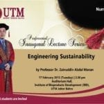 71st Professorial Inaugural Lecture Series by Professor Dr. Zainuddin Abdul Manan