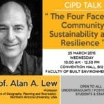 CiPD Talk – The Four Faces of Community Sustainability and Resilience