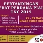 Pertandingan debat Perdana Piala TNC 2015