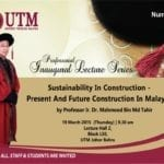73rd Professorial Inaugural Lecture Series