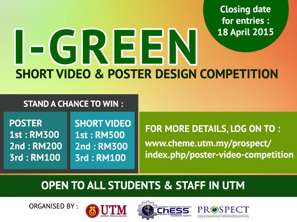 Poster design competition 2015 - Event Categories By Organization Competition Department Faculty Open To Public And Student Group