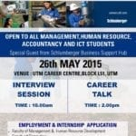 Career talk and interview session by SCHLUMBERGER