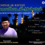 Seminar Ar-Rayyan, Ramadhan Al-Mubarak