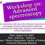 Workshop on: Advanced spectroscopy