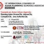 13th International Congress of Asian Planning Schools Association (APSA 2015)