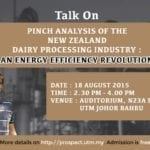 Talk on 'Pinch Analysis of the New Zealand Dairy Processing Industry: An Energy Efficiency Revolution'
