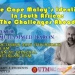 'The Cape Malay's Indentity In South Africa : The Challenges Ahead'