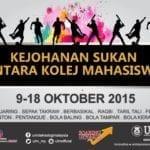 Kejohanan Sukan Antara Kolej Mahasiswa 2015