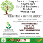 Developing an Innovative Social Business Workshop: AKHUWAT Model and Innovative Approaches