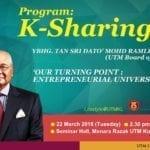 K-Sharing : Our Turning Point Entrepreneurial University
