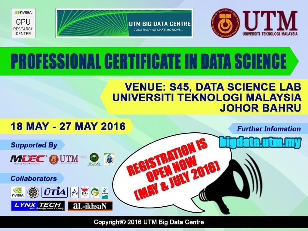Utm Big Data Centre Professional Certificate In Data Science