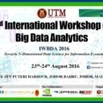 2nd International Workshop on Big Data Analytics – Towards Nth-Dimensional Data Science for Information Economy