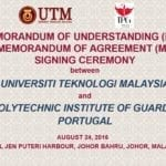 MoU & MoA Signing Ceremony between UTM Big Data Centre & Polytechnic Institute of Guarda, Portugal