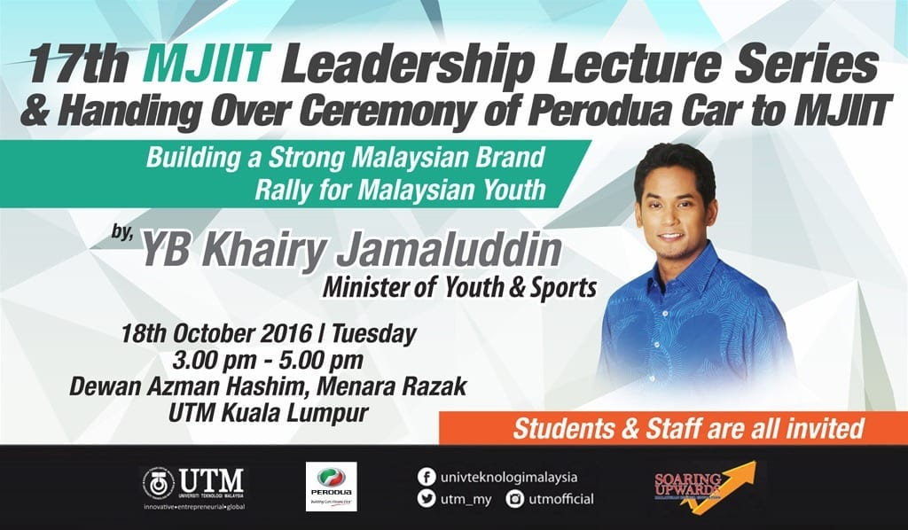 17th MJIIT Leadership Lecture Series & Handing Over Ceremony of Perodua Car to MJIIT