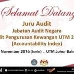 Pengauditan Pengurusan Kewangan Universiti Teknologi Malaysia 2016