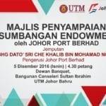 Majlis Penyampaian Sumbangan Endowmen oleh Johor Port