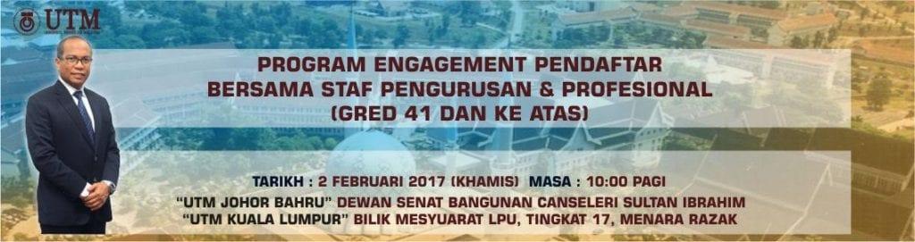 Program Engagement Pendaftar Bersama Kumpulan Pengurusan Profesional Gred 41 Dan Ke Atas Staff