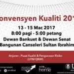 Konvensyen Kualiti 2017 (Anugerah Kualiti Akademik & Anugerah Kualiti Perkhidmatan)