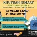 Khutbah Jumaat 31 April 2017