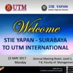 Welcome STIE YAPAN-SURABAYA to UTM International