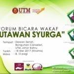"""Forum Bicara Wakaf """"Jutawan Syurga"""""""