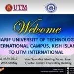 Official visit by Sharif University of Technology, International Campus, Kish Island Iran