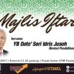 Majlis Iftar Bersama YB Dato' Seri Idris Jusoh, Menteri Pendidikan Tinggi Malaysia di UTMKL