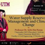 86th Professorial Inaugural Lecture Series by Professor Dr. Sobri Harun