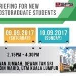 Briefing for New Postgraduate Students (UTM Kuala Lumpur)