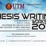 Thesis Writing Wokshop 2017