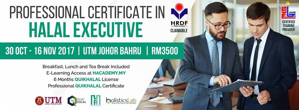 Professional Certificate In Halal Executive Calendar Events