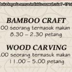 Bengkel Seni dan Kraf bersama KALAM UTM : Bamboo Craft & Wood Carving
