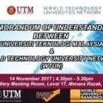 MoU between UTM & World Technology University Network (WTUN)