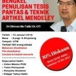 Bengkel penulisan tesis pantas & teknik artikel mendeley