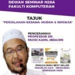 Program Ceramah bersama Prof. Dr. Muhd Kamil Ibrahim – Perjalanan Kesana : Mudah & Ringkas (Travelog Haji)