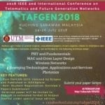 Paper submission : 2018 IEE 2nd International Conference on Telematics and Future Generation Networks (TAFGEN2018)