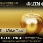 UTM Toastmasters Club 15th Chapter Meeting 2017/2018