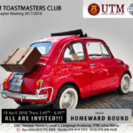 UTM Toastmasters Club regular social gathering 18th Chapter Meeting 2017/2018